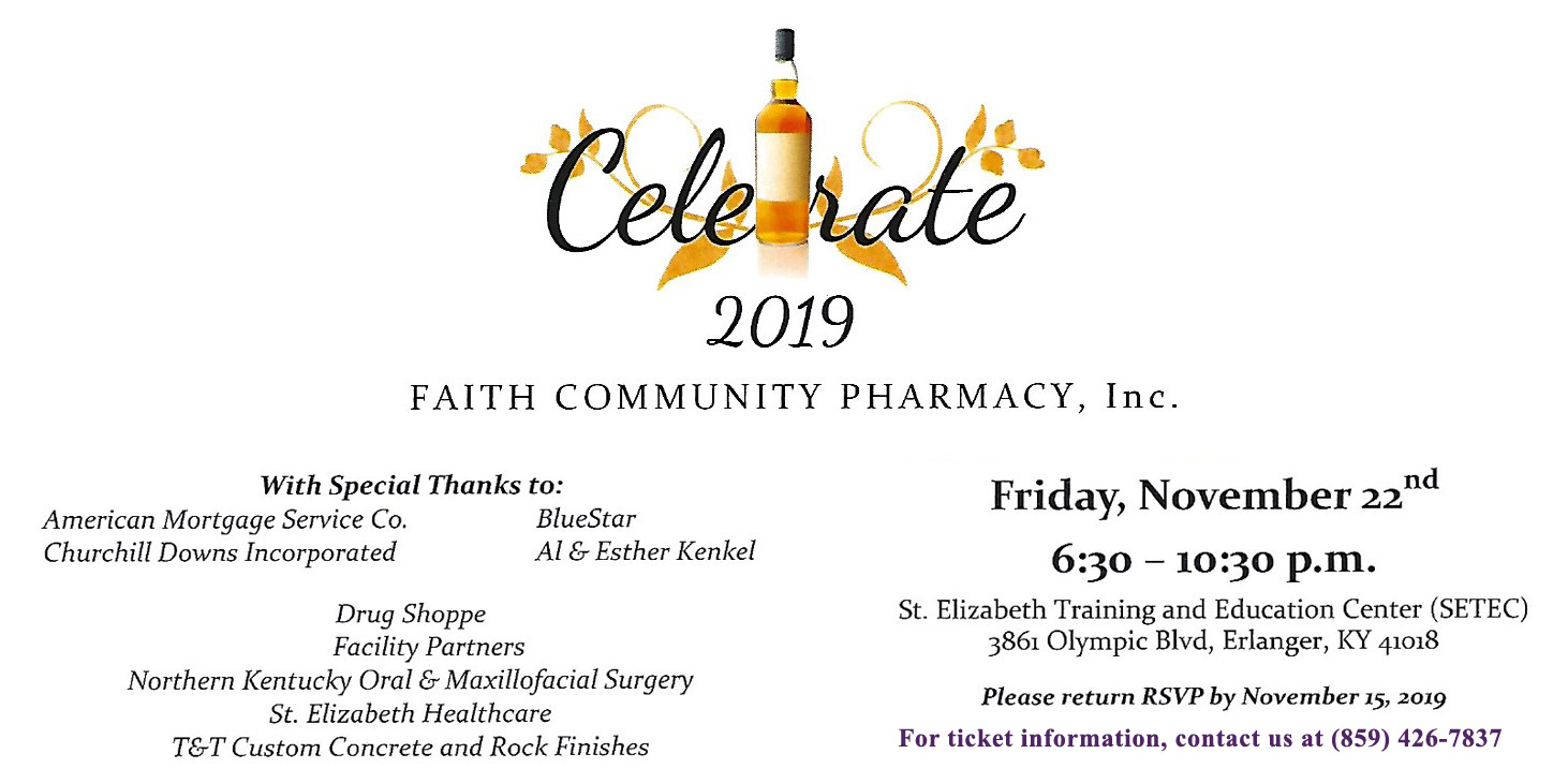 Faith Community Pharmacy Celebrate 2019